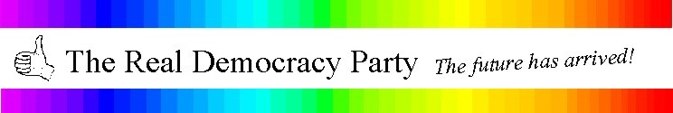 THE REAL DEMOCRACY PARTY (BANNER)